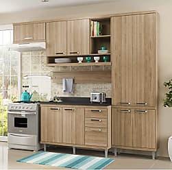 Multimóveis Cozinha Completa com Balcão com Tampo 6 Peças 9 Portas Sicília Multimóveis Argila