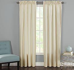 Revman International Heritage Landing Faux Silk Window Panel Pair, 84, Ivory