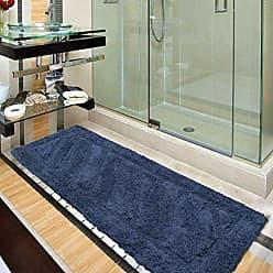 Ottomanson Ruby Collection 100% Pure Cotton Luxury Bath Rug, 20 X 59, Blue