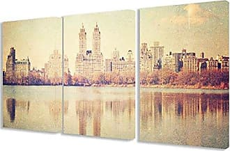 Stupell Industries Stupell Home Décor 3 Piece Central Park Overlook Photographic Triptych Wall Plaque Set, 11 x 0.5 x 17, Proudly Made in USA