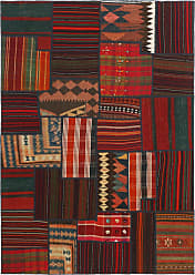 Nain Trading Authentic Kilim Patchwork Rug 67x48 Dark Brown/Purple (Wool, Iran/Persia, Hand-Knotted)