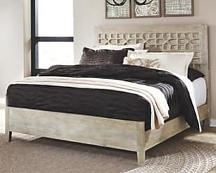 Ashley Furniture Halamay King Panel Bed, Gray