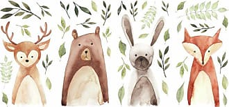RoomMates Watercolor Woodland Critters Peel and Stick Wall Decals - RMK4020SCS