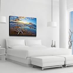Ready2HangArt Maui Shell Realism Contemporary Coastal Photograph Canvas Wall Art Print, 30 x 40, Beige, Blue
