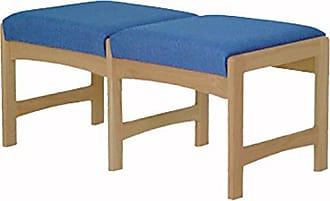 Wooden Mallet DW5-2 2-Seat Bench, Light Oak/Cabernet Burgundy