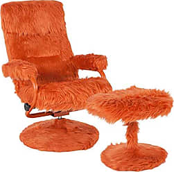 Flash Furniture BT-70621-FUR-ORG-GG Fur Recliners, Orange