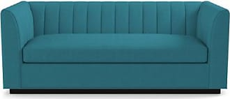 Apt2B Nora Sofa From Kyle Schuneman - Leg Finish: Espresso - Teal Performance Fabric - Sold by Apt2B - Modern Couch Made in the USA