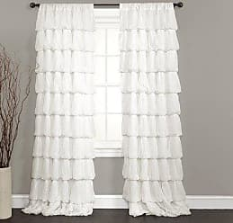 Lush Décor Olivia Window Curtain Panel, 84 by 50-Inch, Off White