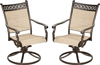 Oakland Living Bali Aluminum Swivel Rocking Outdoor Dining Chair - Set of 2 - 3027-S2-AB