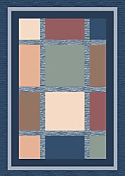 Milliken Carpet Pastiche Collection Ababa Rectangle Area Rug, 78 x 109, Royal