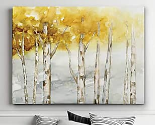 WEXFORD HOME Golden Trees Gallery Wrapped Canvas Wall Art, 30x40