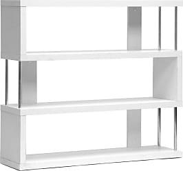 Baxton Studio Barnes 3-Shelf Modern Bookcase - White - FP-3D-WHITE