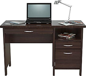 Inval America ES-2403 Softform Desk, Espresso-Wenge/Silver