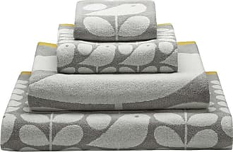 Orla Kiely Early Bird Towel - Granite - Bath Sheet