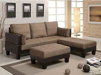 Overstock Paisley Tan Microfiber Contemporary Sofa Bed