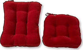 Greendale Home Fashions Standard Rocking Chair Cushion Hyatt fabric, Scarlet