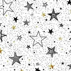 Lar Adesivos Papel de Parede Infantil Estrelas Adesivo Lavável N4165