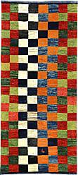 Nain Trading Persian Gabbeh Kashkuli Rug 61x28 Modern/Design Orange/Dark Green (Hand-Knotted, Wool, Iran/Persia)