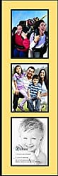 Art to Frames Collage Photo Frame Double Mat with 3 - 8.5x11 Openings and Satin Black Frame