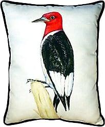 Betsy Drake SN310 Redheaded Woodpecker Pillow, 11 x14