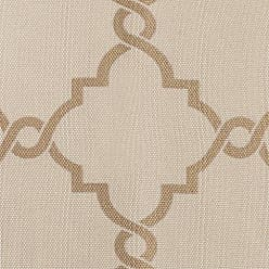 Madison Park Saratoga Room-Darkening Curtain Fretwork Print 1 Window Panel with Grommet Top Blackout Drapes for Bedroom and Dorm, 50x63, Beige/Gold