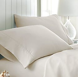 iEnjoy Home 2 Piece Home Collection Premium Luxury Double Brushed Pillow Case Set, King, Cream