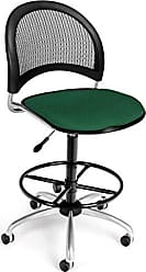OFM 336-DK-2221 Moon Swivel Chair with Drafting Kit, Forest Green