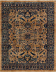Unique Loom Dorchester Collection Vintage Border Botanical Orange Area Rug (9 x 12)