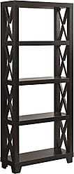 Coaster 801353-CO Humfrye 4 Shelf Bookcase, Cappuccino