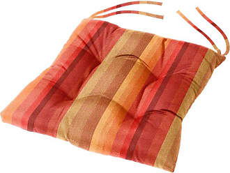 Cushion Source 16 x 16 in. Striped Sunbrella Dining Chair Cushion Davidson Redwood - TXM4A-5606