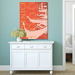 Portfolio Canvas Decor Portfolio Canvas Decor Portfolio Décor Canvas Print Wall Art-Venice 1866 in Tangerine by IHD Studio Stretched and Wrapped, Ready to Hang-30x40, 30x40
