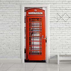 StickDecor Adesivo de Porta London Telephone