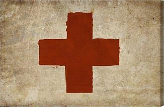 Hatcher & Ethan Red Cross Canvas Art - HE10760_60X40_CANV_XXHD_HE