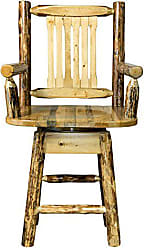 Montana Woodworks MWGCBSWSCAS24 Glacier Country Collection Counter Height Swivel Captains Barstool