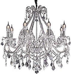 Ore International Ore International K-5802H 26W x 28H Nola Crystal Chandelier with LED Lights, Clear