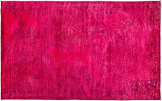 Solo Rugs Vibrance Hand Knotted Area Rug 5 1 x 8 1 Pink