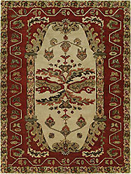 Kalaty NM-067 69 Newport Mansions Area Rug, 6 x 9, Kingscote Sand/Red