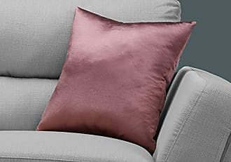 Monarch Specialties I I 9338 Throw Pillow, 18 x 18, Pink