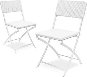Relaxdays Klappstuhl BASTIAN 2er Set, Gartenstuhl Klappbar, HBT 82 X 44 X  50 Cm