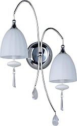 ET2 Contemporary Lighting Chute 2-Light Wall Sconce in Polished Chrome w/Matte White Shade