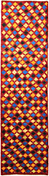 Nain Trading Oriental Design Baluch Rug 95x28 Runner Orange/Pink (Wool, Afghanistan, Hand-Knotted)
