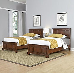 Home Styles Chesapeake Classic Cherry Two Twin Beds and Night Stand by Home Styles