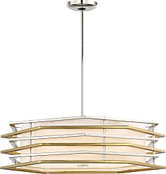 George Kovacs Levels 26 LED Pendant in Polished Nickel/Honey Gold