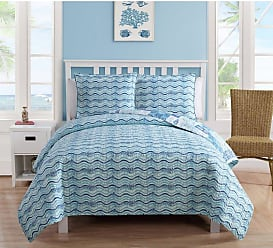 VCNY Patchwork Sealife 3 Piece Quilt Set by VCNY Home, Size: Full/Queen - PTC-3QT-FUQU-IN-BL