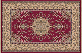 Dynamic Rugs Brilliant Collection Wool Hearth Rug-Red Kalei - BR247201330