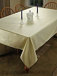 Violet Linen Hotel Metallic Oblong/Rectangle Tablecloth, 52 x 70, Gold