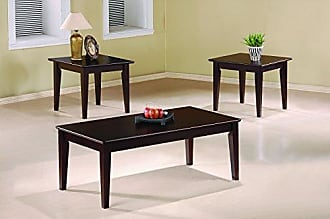 Coaster 3-piece Occasional Table Set with Tapered Legs Cappuccino