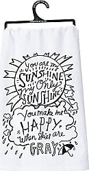 Primitives By Kathy 26972 LOL Made You Smile Dish Towel, When When Skies are Gray