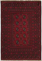 Nain Trading Oriental Rug Afghan Akhche 49x33 Dark Brown/Purple (Wool, Afghanistan, Hand-Knotted)