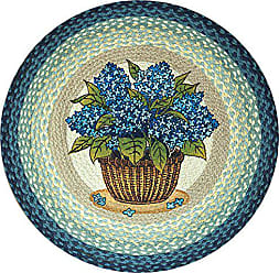 Earth Rugs 66-362BH Round Rug, 27, Breezy Blue/Taupe/Ivory